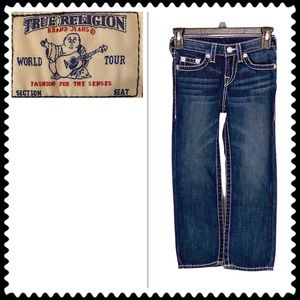True Religion Girls' Straight Blue Jeans